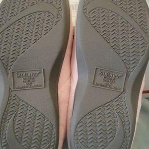 isotoner Shoes - ISOTONER Women pink slip on slippers
